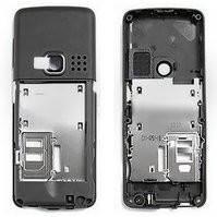 Средняя часть корпуса для мобильного телефона Nokia 6300, черная, пустая