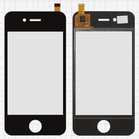 Сенсорный экран для мобильных телефонов China-iPhone 4, 4s, емкостный, черный, 90 мм, тип 15, (112*57мм), (75*50мм), #CY8C214/D9145