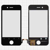 Сенсорный экран для мобильных телефонов China-iPhone 4, 4s, емкостный, черный, 90 мм, тип 14, (113 * 56 мм), (75*50мм), #KL003511FP1611A