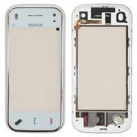 Сенсорный экран для мобильного телефона Nokia N97 Mini, с передней панелью, copy, белый