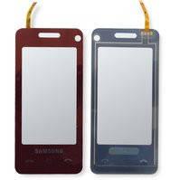 Сенсорный экран для мобильного телефона Samsung F490, красный