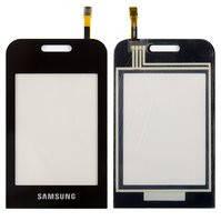 Сенсорный экран для мобильных телефонов Samsung E2652, E2652W, черный