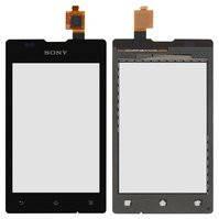 Сенсорный экран для мобильных телефонов Sony C1503 Xperia E, C1504 Xperia E, C1505 Xperia E, C1604 Xperia E Dual, C1605 Xperia E Dual, черный