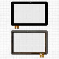 """Сенсорный экран для планшетов China-Tablet PC 10,1""""; Modecom FreeTab 1002 IPS X2; Bmorn Bmorn K12, 10.1"""", 78 pin, емкостный, черный, (258*169 мм),"""