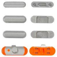 Пластик боковых кнопок корпуса для планшета Apple iPad Mini 2 Retina, полный комплект, серебристый