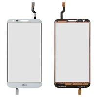Сенсорный экран для мобильных телефонов LG G2 D802, G2 D805, белый