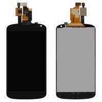 Дисплей для мобильного телефона LG E960 Nexus 4, черный, с сенсорным экраном