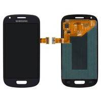 Дисплей для Samsung I8190 Galaxy S3 mini, синий, с сенсорным экраном, оригинал (переклеено стекло)
