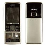 Корпус для мобильного телефона Nokia 6300, high-copy, серебристый