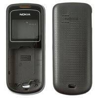 Корпус для мобильного телефона Nokia 1202, high-copy, черный, со средней частью