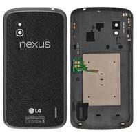 Задняя крышка батареи для мобильного телефона LG E960 Nexus 4, черная
