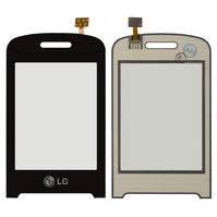 Сенсорный экран для мобильного телефона LG T315, черный