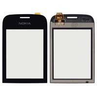 Сенсорный экран для мобильного телефона Nokia 202 Asha, черный