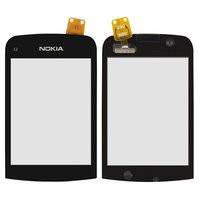 Сенсорный экран для мобильных телефонов Nokia C2-02, C2-03, C2-06, C2-07, C2-08, черный