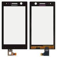 Сенсорный экран для мобильного телефона Sony ST25i Xperia U, черный