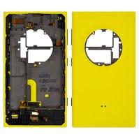Задняя панель корпуса для мобильного телефона Nokia 1020 Lumia, желтая