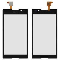 Сенсорный экран для мобильного телефона Sony C2305 S39h Xperia C, черн