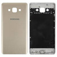 Задняя панель корпуса для мобильного телефона Samsung A700F Galaxy A7, золотистая, без компонента