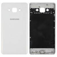 Задняя панель корпуса для мобильного телефона Samsung A700F Galaxy A7, белая, без компонента