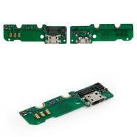 Шлейф для мобильного телефона Huawei Ascend Mate MT1-U06, коннектора зарядки, с компонентами