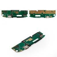 Шлейф для мобильного телефона Lenovo A750E, коннектора зарядки, микрофона, с компонентами, плата зарядки