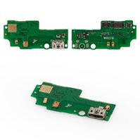 Шлейф для мобильного телефона Huawei G750 Honor 3X, коннектора зарядки, с компонентами