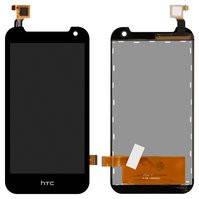 Дисплей для мобильного телефона HTC Desire 310 Dual Sim, черный, с сенсорным экраном, (127*63)