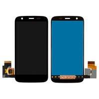 Дисплей для мобильных телефонов Motorola XT1032 Moto G, XT1033 Moto G, XT1036 Moto G, черный, с сенсорным экраном