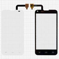 Сенсорный экран для мобильного телефона Fly IQ4415, белый