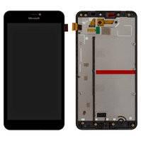 Дисплей для мобильного телефона Microsoft (Nokia) 640 XL Lumia Dual SIM, черный, с сенсорным экраном, с рамкой