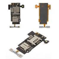 Коннектор SIM-карты для мобильных телефонов LG P700 Optimus L7, P705 Optimus L7, с коннектором карты памяти, со шлейфом