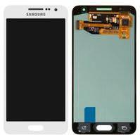 Дисплей для мобильных телефонов Samsung A300F Galaxy A3, A300FU Galaxy A3, A300H Galaxy A3; Samsung, белый, с сенсорным экраном, original (PRC)