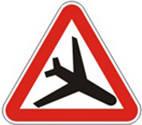 Дорожные знаки Предупреждающие знаки Низколетящие самолеты 1.18