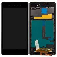 Дисплей для мобильных телефонов Sony C6902 L39h Xperia Z1, C6903 Xperia Z1, C6906 Xperia Z1, C6943 Xperia Z1, черный, с рамкой, с сенсорным экраном,