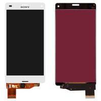 Дисплей для мобильных телефонов Sony D5803 Xperia Z3 Compact Mini, D5833 Xperia Z3 Compact Mini, белый, с сенсорным экраном, original (PRC)