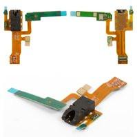 Шлейф для мобильных телефонов Sony C6502 L35h Xperia ZL, C6503 L35i Xperia ZL, C6506 Xperia ZL, коннектора наушников, с микрофоном