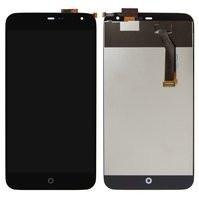 Дисплей для мобильного телефона Meizu MX3, черный, с сенсорным экраном