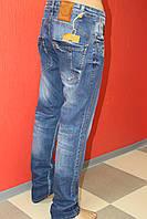 Стильны джинсы для мужчин STRAVT молодёжные,зауженные,простроченные с замком 822