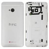 Задняя панель корпуса для мобильного телефона HTC One M7 801e, серебристая