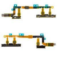 Шлейф для мобильных телефонов Sony D5803 Xperia Z3 Compact Mini, D5833 Xperia Z3 Compact Mini, кнопки включения, боковых клавиш, с вибро, с