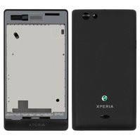 Корпус для мобильного телефона Sony ST23i Xperia Miro, черный