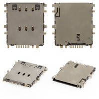 Коннектор SIM-карты для планшетов Samsung P3200 Galaxy Tab3, P5200 Galaxy Tab3, P5220 Galaxy Tab3, T111 Galaxy Tab 3 Lite 7.0 3G, T116 Galaxy Tab 3