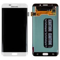 Дисплей для мобильного телефона Samsung G928 Galaxy S6 EDGE Plus, белы
