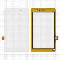 "Сенсорный экран для планшетов China-Tablet PC 7""; Roverpad Air S70; Oysters T7x 3G, 7"", 187 мм, 107 мм, 51 pin, емкостный, белый, #YDT1241-A1"