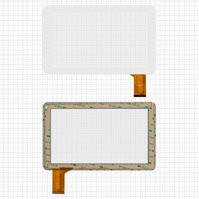"Сенсорный экран для планшетов China-Tablet PC 9""; Allwinner A13, A20; Freelander PD50, PD60; VIA 8880; MID Android, 9"", 50 pin, емкостный, белый,"