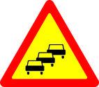 Дорожные знаки Предупреждающие знаки Заторы в дорожном движении 1.38