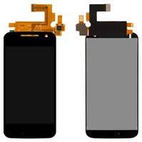 Дисплей для мобильных телефонов Motorola XT1622 Moto G4, XT1625 Moto G4 LTE, XT1642 Moto G4 Plus, черный, с сенсорным экраном