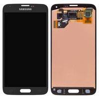 Дисплей для мобильных телефонов Samsung G900A Galaxy S5, G900F Galaxy S5, G900H Galaxy S5, G900I Galaxy S5, G900T Galaxy S5, черный, с сенсорным
