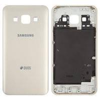 Задняя панель корпуса для мобильных телефонов Samsung A300F Galaxy A3, A300FU Galaxy A3, A300G Galaxy A3, A300H Galaxy A3, золотистая