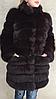 Пальто из меха песца.